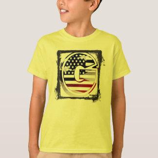 Letter G Monogram Initial USA Flag Pattern T-Shirt