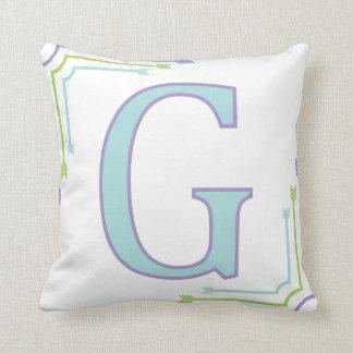 Letter G - Monogram Pillow