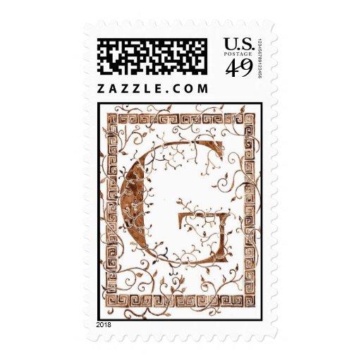 Letter G Monogram Postage