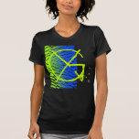 Letter G Monogram Shatter Blue Green T-Shirt