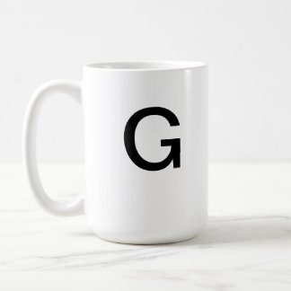 letter g mug
