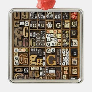 Letter G Christmas Ornament