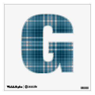 letter G plaid tartan punk rock wall decal