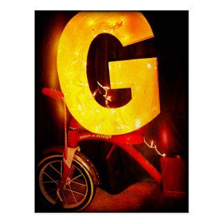 "Letter ""G"" Postcard"