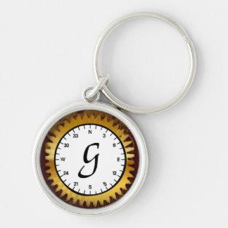 Letter G Premium Clockwork Keychain