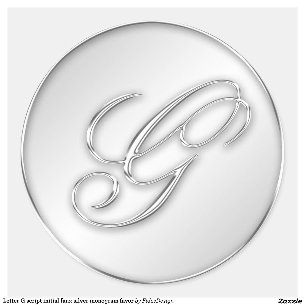 Script Letter G Letter G script initial faux
