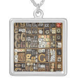 Letter G Silver Plated Necklace