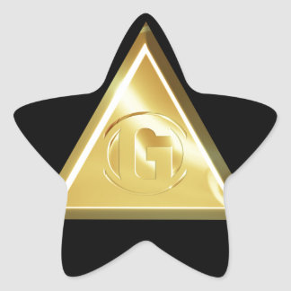 Letter G Star Sticker