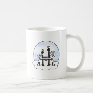 Letter H Alphabet Initial Monogram w Angel Clouds Coffee Mug