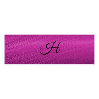 Letter H Pack Of Skinny Business Cards