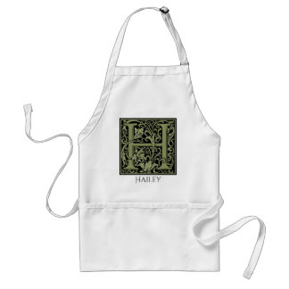 Letter H First Letter Monogram Personalized Adult Apron