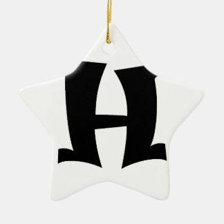 Letter H_large Ceramic Ornament