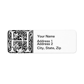 Alphabet Letter H Shipping, Address, &amp- Return Address Labels | Zazzle