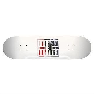 Letter H Monogram Initial Patriotic USA Flag Skateboard