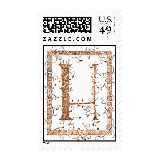 letter H monogram Postage