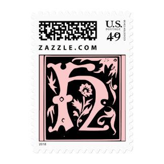 Letter H Monogram Postage Stamps