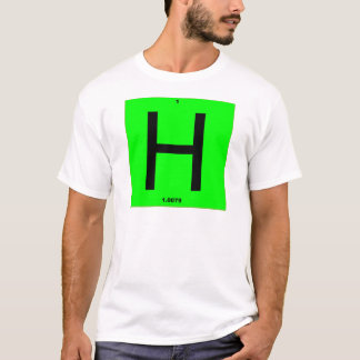 Letter H periodic table T-Shirt