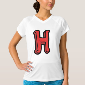 Letter H Womens Active Tee