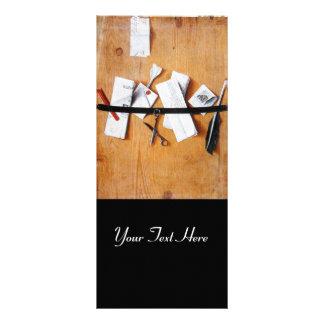 LETTER HOLDER IN WOOD MONOGRAM black brown white Customized Rack Card