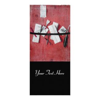 LETTER HOLDER IN WOOD MONOGRAM black red white Rack Card Design