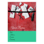 LETTER HOLDER IN WOOD MONOGRAM ,blue turquase Business Cards