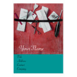LETTER HOLDER IN WOOD MONOGRAM ,blue turquase red Business Cards