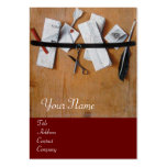 LETTER HOLDER IN WOOD MONOGRAM,red brown Business Card Templates