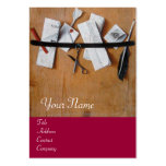 LETTER HOLDER IN WOOD MONOGRAM, red brown Business Card Templates