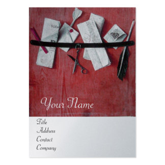 LETTER HOLDER IN WOOD MONOGRAM red platinum silver Business Card Template