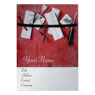LETTER HOLDER IN WOOD MONOGRAM red platinum silver Large Business Cards (Pack Of 100)