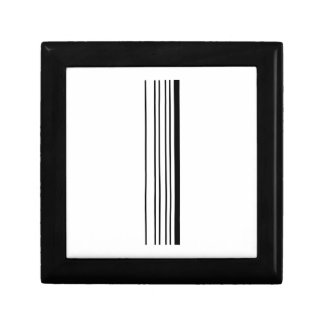 LETTER I BAR CODE First Initial Barcode Pattern Keepsake Box
