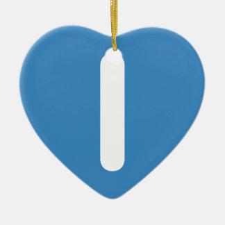 Letter I emoji Twitter Adorno Navideño De Cerámica En Forma De Corazón