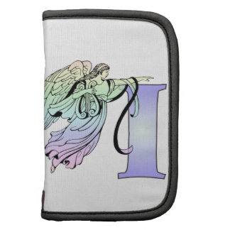 Letter I guardian angel monogram alphabet initial Folio Planners