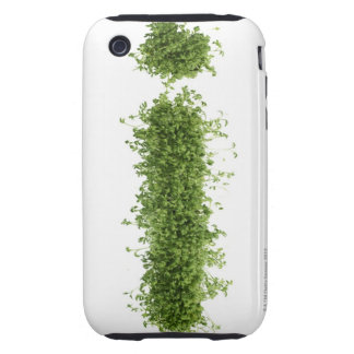 Letter 'i' in cress on white background, tough iPhone 3 cases