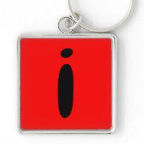 letter i l key chain