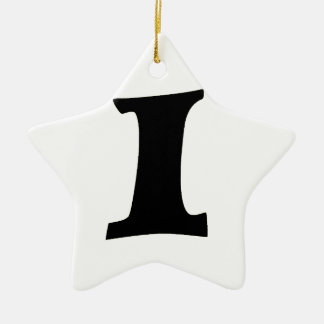 Letter I_large Ceramic Ornament