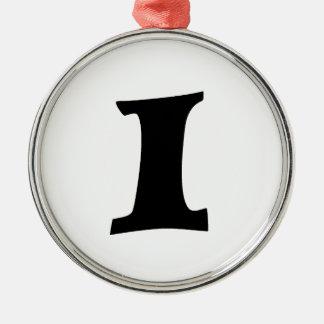 Letter I_large Metal Ornament