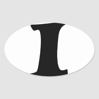 Letter I_large Oval Sticker
