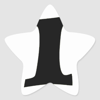 Letter I_large Star Sticker