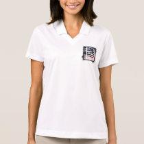Letter I Monogram Initial Patriotic USA Flag Polo Shirt