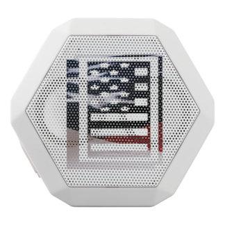 Letter I Monogram Initial Patriotic USA Flag White Bluetooth Speaker