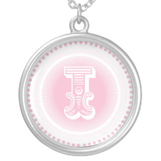 Letter I monogram necklace