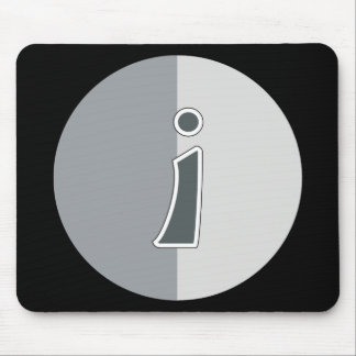 Letter I Mouse Pad