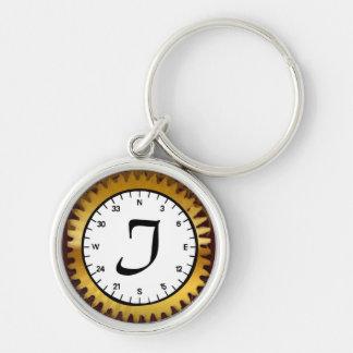 Letter I Premium Clockwork Keychain