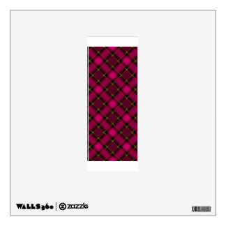 letter I punk plaid pink college rock sticker