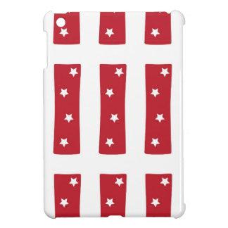 Letter I - White Stars on Dark Red iPad Mini Cover