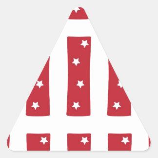 Letter I - White Stars on Dark Red Triangle Sticker