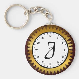 Letter J Clockwork Keychain