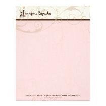 Letter J Cupcake Business Letterhead