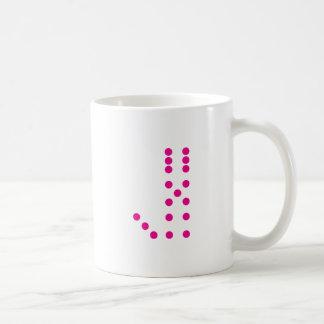 Letter J Dice Coffee Mug